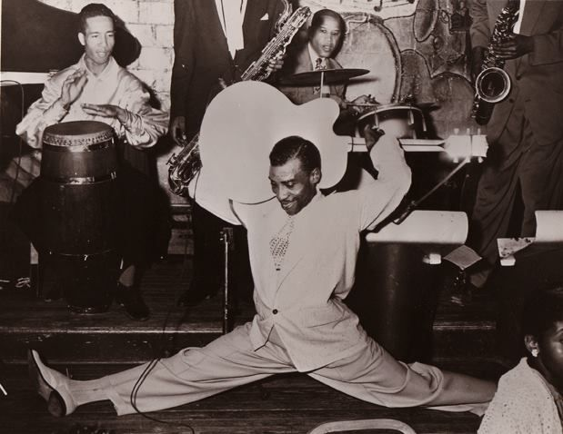 T-Bone Walker band with conga drummer