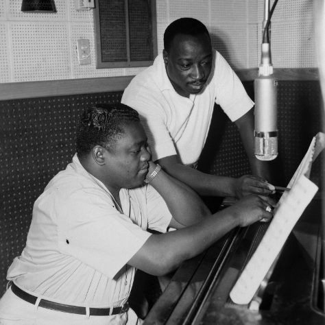 Rock and Roll Hall of Famers Dave Bartholomew and Fats Domino