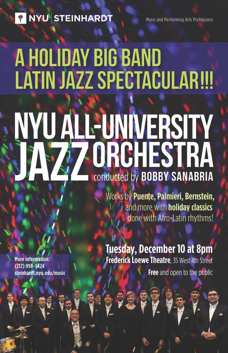 The NYU Jazz Orchestra conducted by Bobby Sanabria